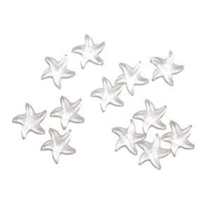 Clear starfish decorative glass shapes