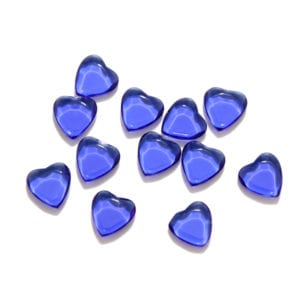 Dark Blue Hearts Decorative Glass Shapes