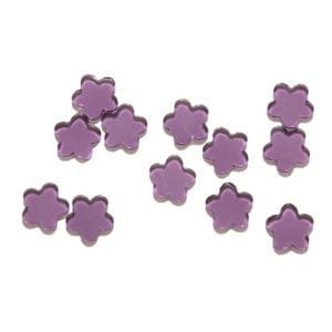 Purple Flowers Decorative Glass Shapes