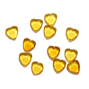 Yellow Hearts Decorative Glass Shapes